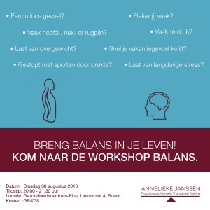 workshop BALANS